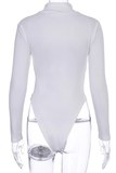Queen in Charge Bodysuit - White - flyqueens