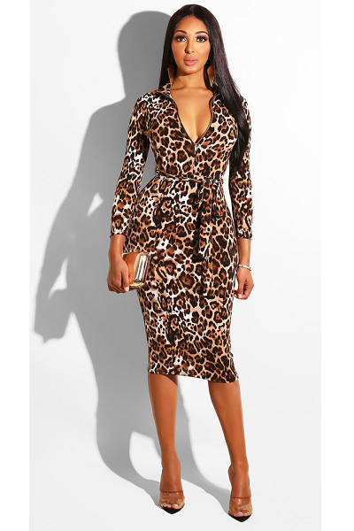 Meet Me in Vegas Dress - Leopard - flyqueens