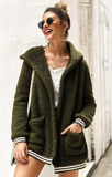 Hot Cocoa Sherpa Coat - Dark Green - flyqueens
