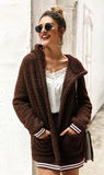 Hot Cocoa Sherpa Coat - Brown - flyqueens