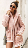 Hot Cocoa Sherpa Coat - Rose - flyqueens