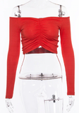Feelin Like a Milli Crop Top - Red - flyqueens