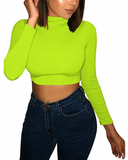No Chill Crop Top - Green - flyqueens