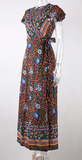 Floral Fine Maxi Dress - Dark Blue