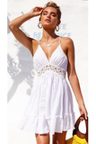 Forever & Always Backless Dress - White