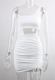 Check For Me Dress - White