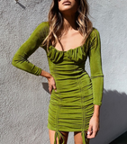 Ain't Your Chick Dress - Olive