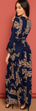 La Belle Maxi Dress - Navy Blue - flyqueens
