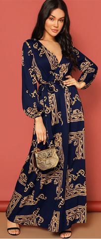 La Belle Maxi Dress - Navy