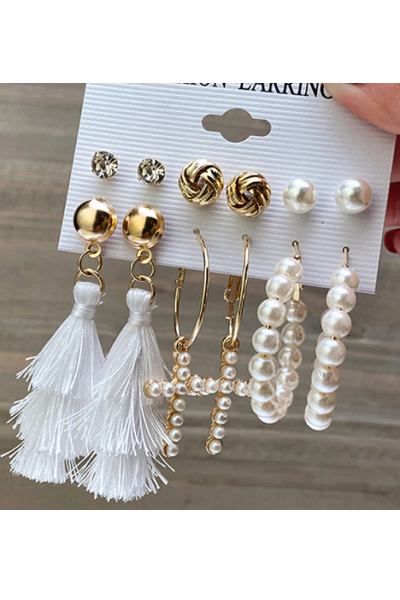 Gold Vibes Earrings Set