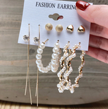 Golden Honey Earrings Set