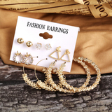 Blinged Out Earrings Set