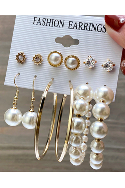 Pearl Love Earrings Set