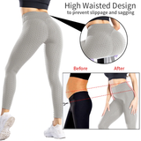 Peach Perfection Leggings - Grey
