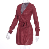 Glam Honey Wrap Dress - Red
