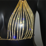 Shine-Dime Backless Dress - Gold