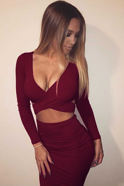 On The DL Dress - Maroon