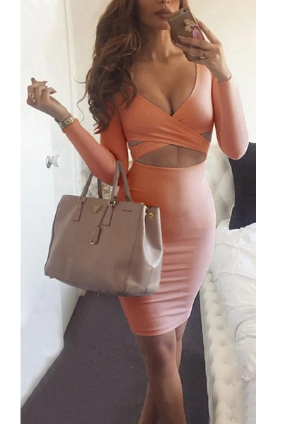 On The DL Dress - Peach