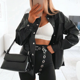 Bad Lil Babe Faux Leather Jacket