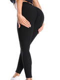 Peach Perfection Leggings - Black