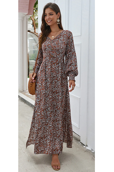 Free Spirit Maxi Dress - Burgundy