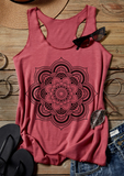 Mandala Beauty Tank Top - Rouge