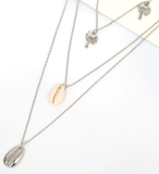 Shell in Love Layered Necklace - flyqueens