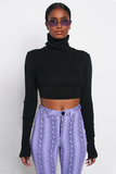 See You Around Crop Top - Black - flyqueens