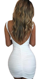 Never Leave My Side Backless Dress - White