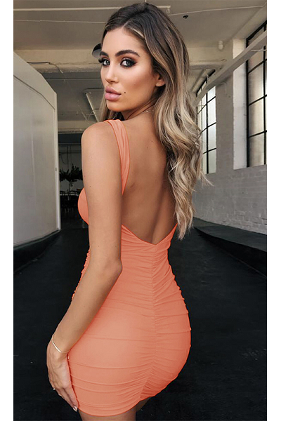 Never Leave My Side Backless Dress - Sorbet