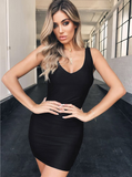 Never Leave My Side Backless Dress - Black
