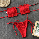 Beach Babe Bikini Set - Red