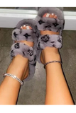 Bougie Babe Slippers - Grey