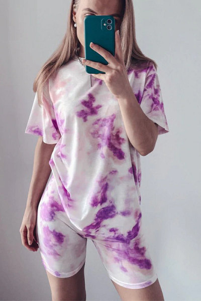 Chill Sweetie Set - Purple Tie Dye
