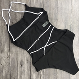 Forever a Baddie Swimsuit - Black & White - flyqueens