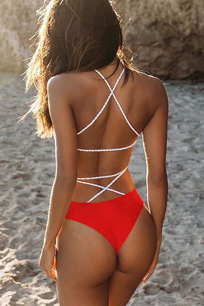Forever a Baddie Swimsuit - Red - flyqueens