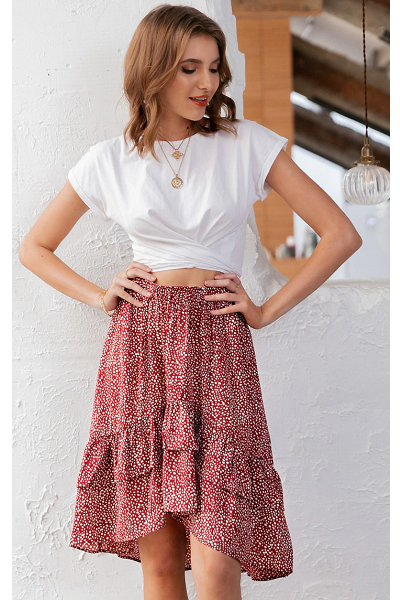 Kiss Me Skirt - Red