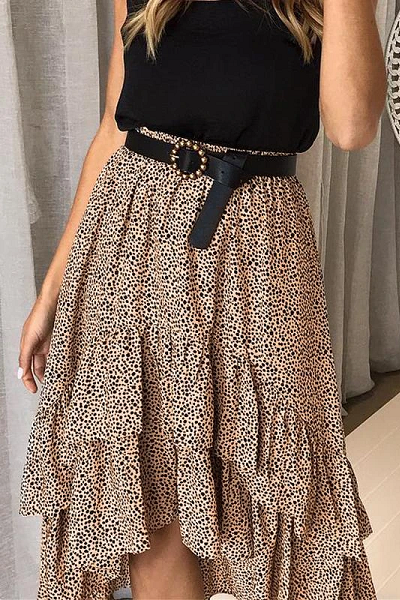 Kiss Me Skirt - Tan