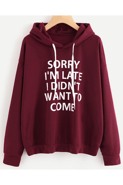 Sorry Not Sorry Hoodie - Burgundy - flyqueens