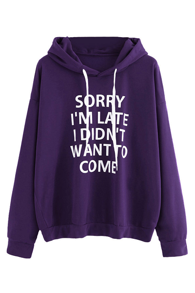Sorry Not Sorry Hoodie - Purple - flyqueens