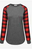 Plaid Princess Top - Grey - flyqueens