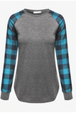 Plaid Princess Top - Blue - flyqueens