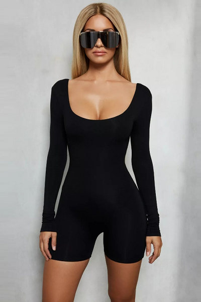 Babe on Deck Jumpsuit - Black - flyqueens