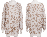 Savage Heart Sweater - Beige Leopard