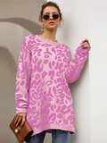 Savage Heart Sweater - Pink Leopard