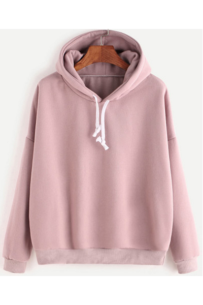 Basic Babe Hoodie - Pink - flyqueens