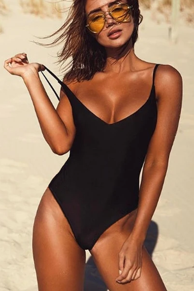Coastal Queen Swimsuit - Black - flyqueens