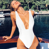 Head Babe in Charge Swimsuit - White - flyqueens