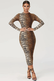 Wild Queen Midi Dress - Tiger - flyqueens