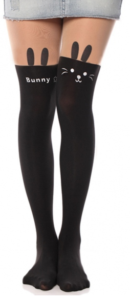 Super cute Bunny Tights! Material: Nylon/Spandex - Our ambition is to keep you looking like the royalty you are in the hottest new clothing, shoes, bags, and accessories!
